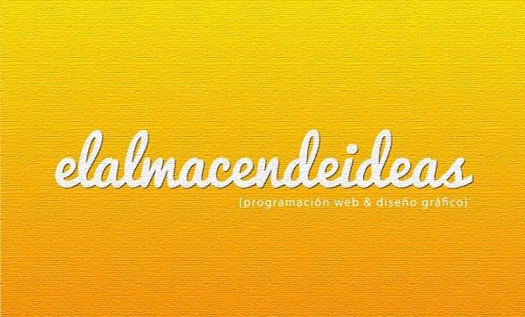 Diseño Gráfico y Programación Web en elalmacendeideas.es